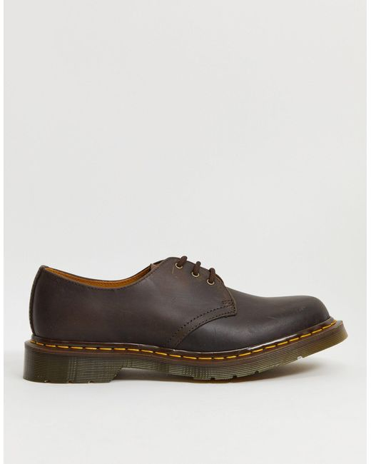 Туфли С 3 Парами Люверсов 1461-коричневый Dr. Martens для него, цвет: Brown