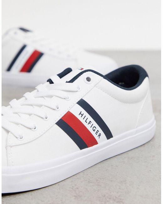 Белые Кроссовки С Полосками По Бокам Essential-белый Tommy Hilfiger для него, цвет: White