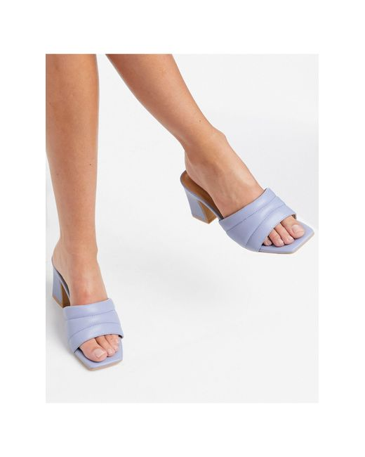 Pimkie Blue Quilted Mules