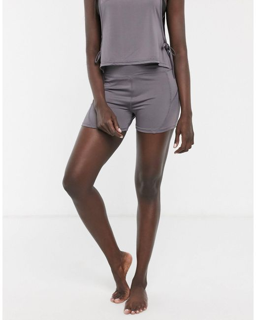 Темно-серые Шорты Для Йоги -серый South Beach, цвет: Gray