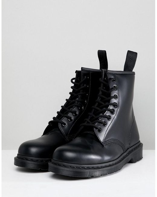5f17f4233c Dr. Martens 1460 Mono 8-eye Boots In Black in Black for Men - Lyst