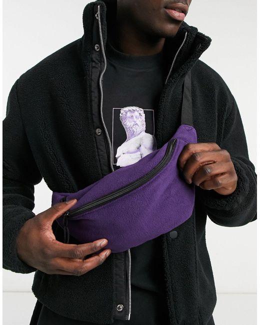 Флисовая Сумка-кошелек На Пояс Фиолетового Цвета ASOS для него, цвет: Multicolor