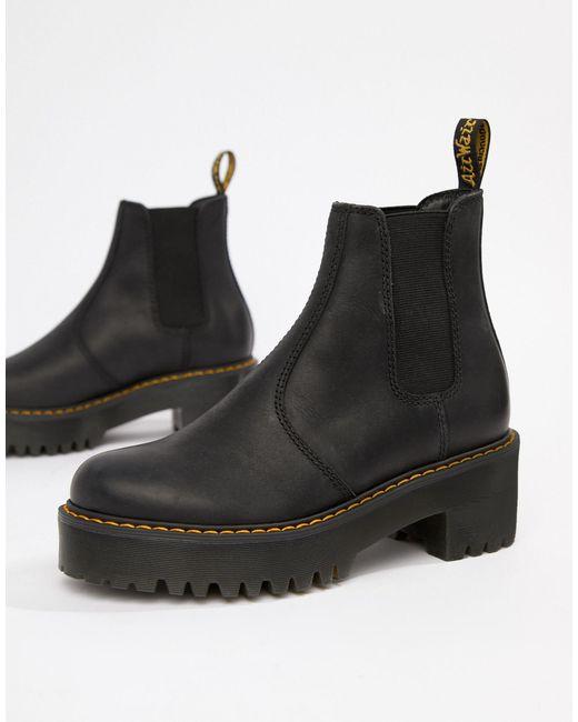 Черные Кожаные Ботинки Челси На Каблуке Dr. Martens Rometty-черный Цвет Dr. Martens, цвет: Black
