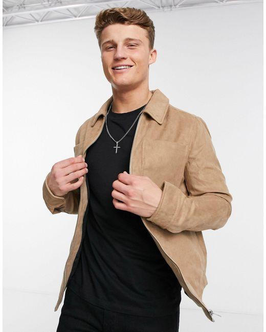 Premium - Veste en daim - Beige Jack & Jones pour homme en coloris Brown