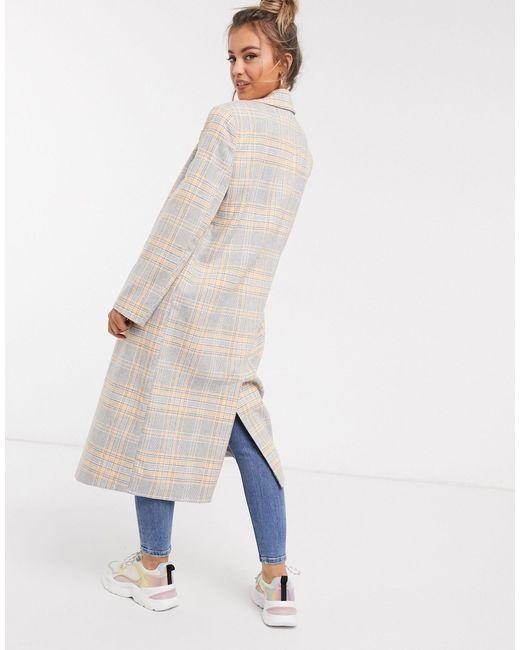 Длинное Пальто Oversize В Клетку ASOS, цвет: Multicolor
