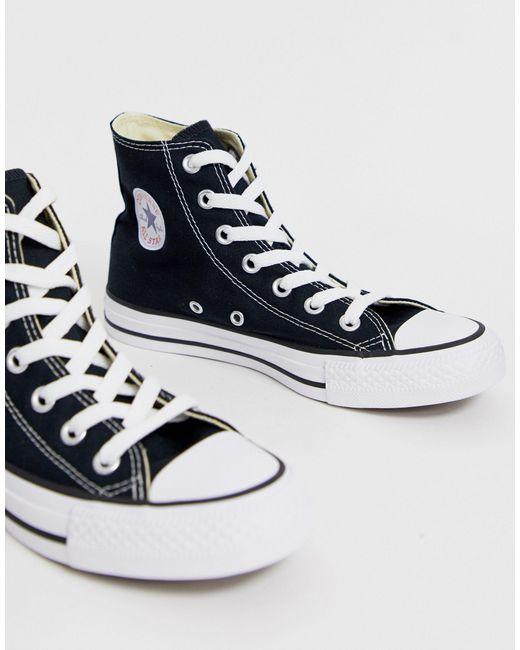 Черные Высокие Кеды Converse, цвет: Black