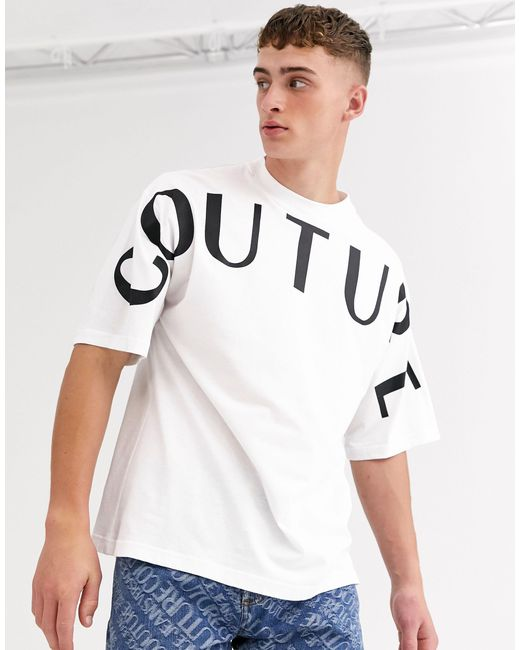 Versace Jeans White T-shirt With Couture Logo for men