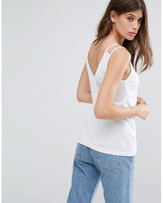ASOS | White Sleeveless Drape Vest | Lyst