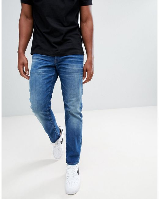G-Star RAW Blue 3301 Straight Jeans Medium Aged for men