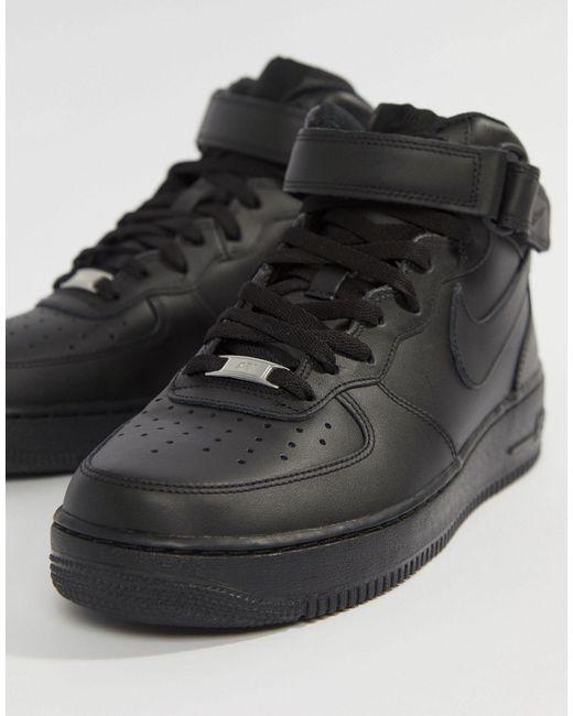 Chaussure Air Force 1 Mid'07 pour Cuir Nike pour homme en coloris ...