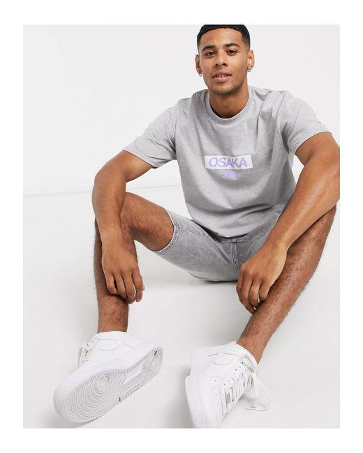 New Look – es T-Shirt mit Osaka-Print in Multicolor für Herren