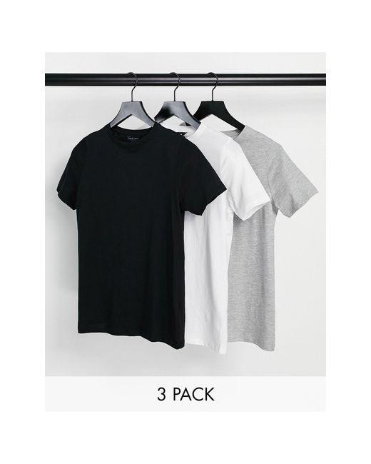 New Look Gray 3 Pack Girlfriend Tees