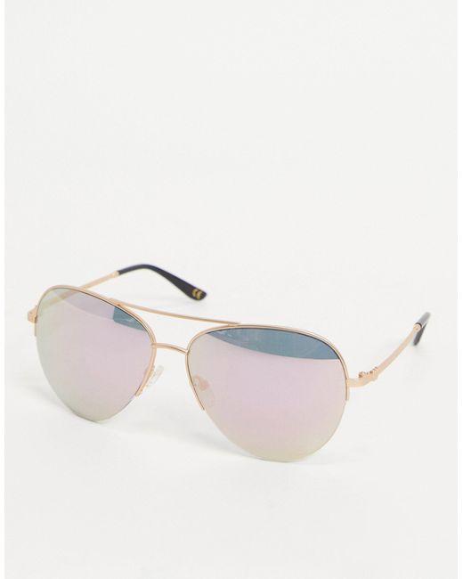 Солнцезащитные Очки-авиаторы -золотистый Whistles, цвет: Metallic