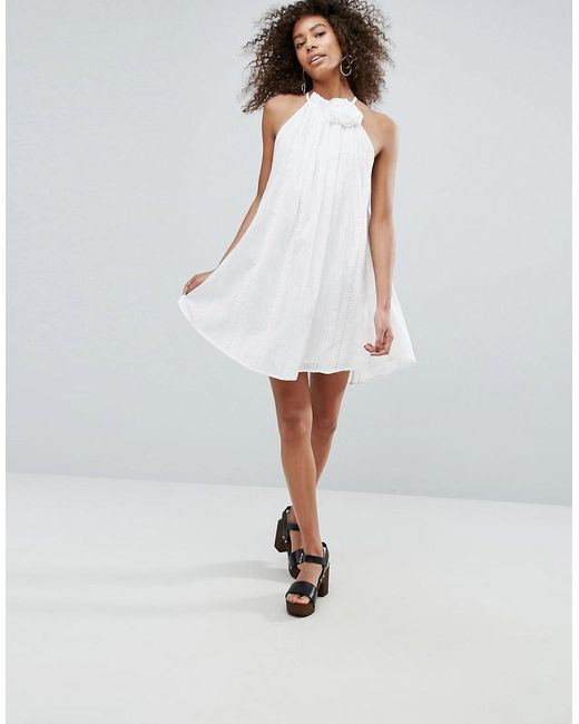 Sale Low Cost Perfect For Sale Corsage Dress - White Traffic People Buy Cheap Pay With Visa yxjuGaN8