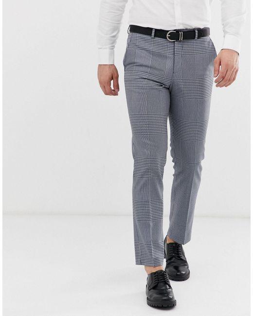 Серые Узкие Брюки В Клетку Premium-серый Jack & Jones для него, цвет: Gray