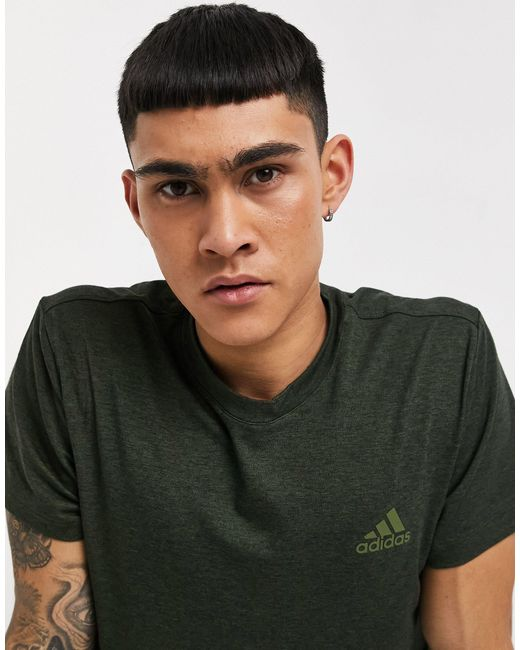 Футболка Цвета Хаки Из Технологичной Ткани Adidas Yoga-зеленый Цвет Adidas Originals для него, цвет: Green