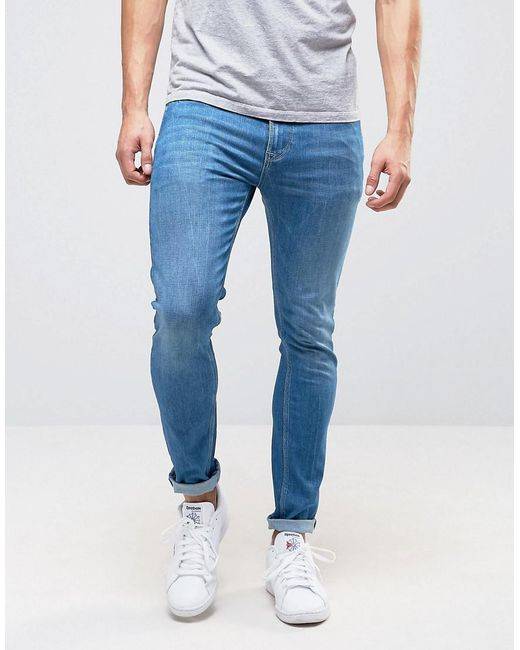 Pepe Jeans   Blue Pepe Nickel Powerflex Skinny Jeans Stone Wash for Men   Lyst