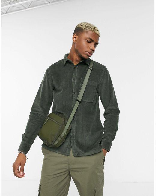Рубашка Хаки С Длинными Рукавами -зеленый Topman для него, цвет: Green