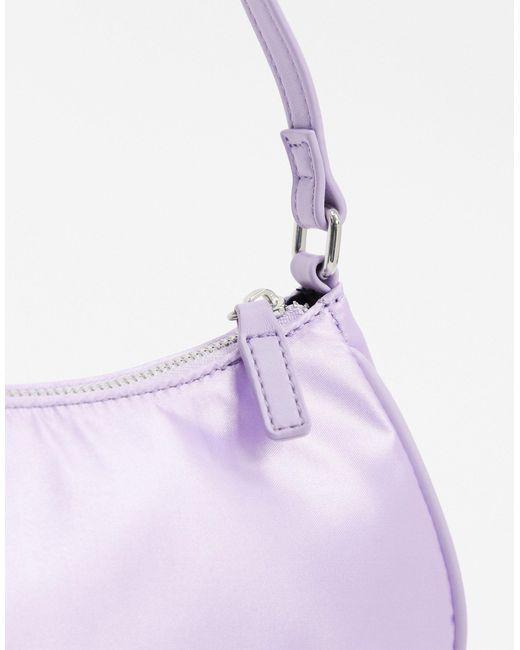 Лавандовая Атласная Сумка На Плечо В Стиле 90-х ASOS, цвет: Purple