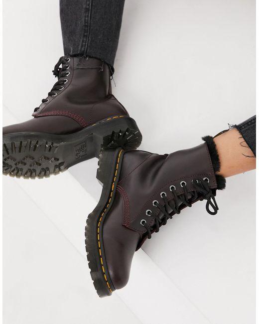Темно-бордовые Ботинки Со Шнуровкой На 8 Пар Люверсов Atlas-красный Dr. Martens, цвет: Black