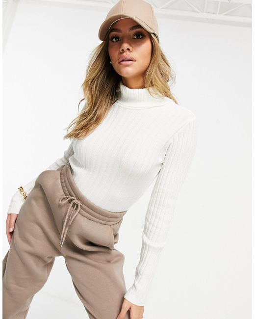 I Saw It First Multicolor Knitted Roll Neck Cropped Jumper
