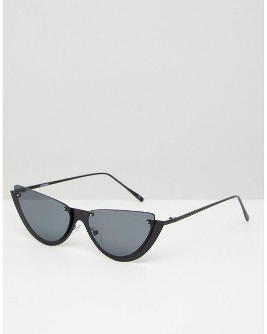 ASOS DESIGN - Black Asos Sliced Top Extreme Cat Eye Sunglasses - Lyst