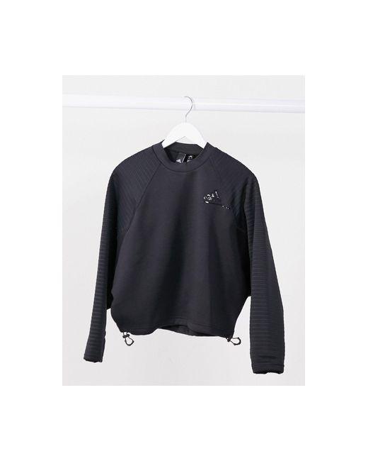 Черный Свитшот С Затяжкой Adidas Training Adidas Originals, цвет: Black
