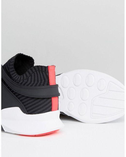 lyst adidas originali eqt sostegno anticipo i formatori in nero bb1260