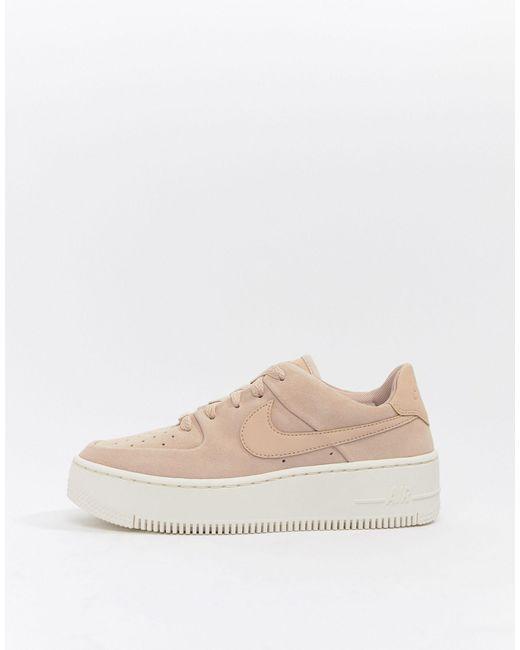 air force 1 beige e rosa