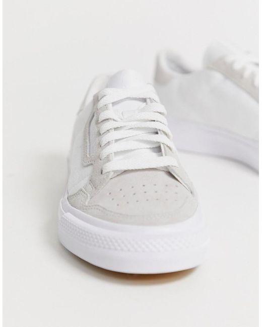 adidas Originals Continental 80 Vulc sneaker in white ASOS  ASOS