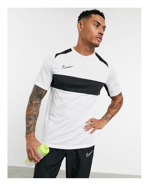Academy - T-shirt con riga sul petto, colore bianco di Nike Football in White da Uomo