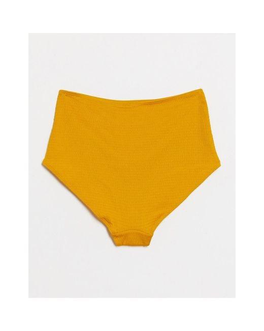 Желтые Плавки Бикини С Завышенной Талией -желтый Monki, цвет: Yellow