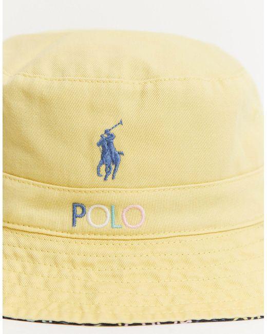 Эксклюзивная Черная Двусторонняя Панама X Asos-белый Polo Ralph Lauren для него, цвет: White