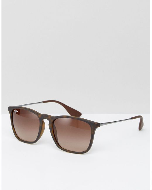 Солнцезащитные Очки Keyhole Wayfarer 0rb4187-коричневый Ray-Ban, цвет: Brown