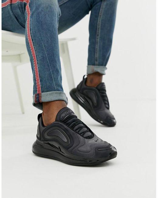 Nike Air Max 720 Sneakers In Triple Black Ao2924-004 for men