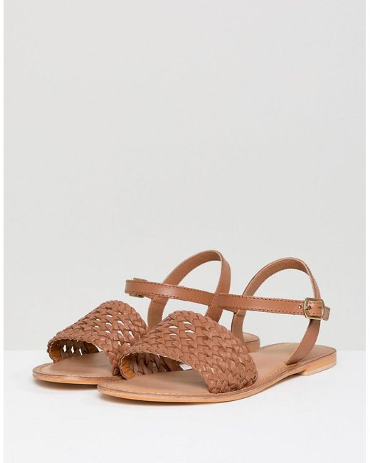 wide fit brown leather sandals hot
