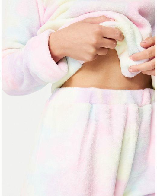 Флисовый Комплект Для Дома Радужного Цвета С Принтом Тай-дай -многоцветный Brave Soul, цвет: Pink