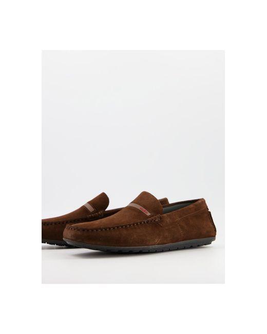 Коричневые Мокасины Dandy-коричневый Цвет HUGO для него, цвет: Brown