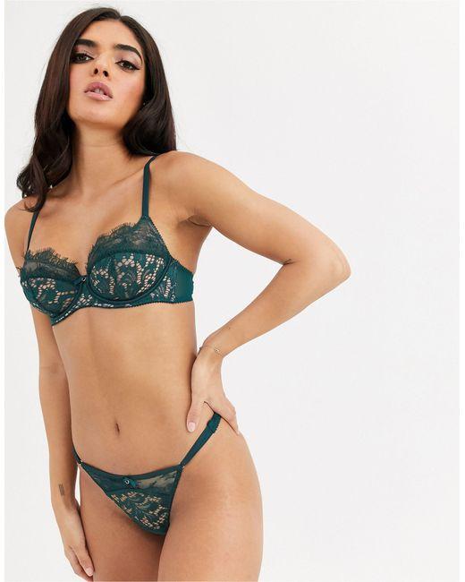 Кружевные Стринги Изумрудного Цвета Love Me True-зеленый Ann Summers, цвет: Green