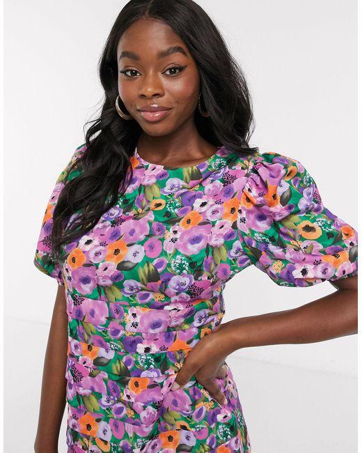 Короткое Приталенное Ярусное Платье С Цветочным Принтом -мульти Never Fully Dressed, цвет: Multicolor