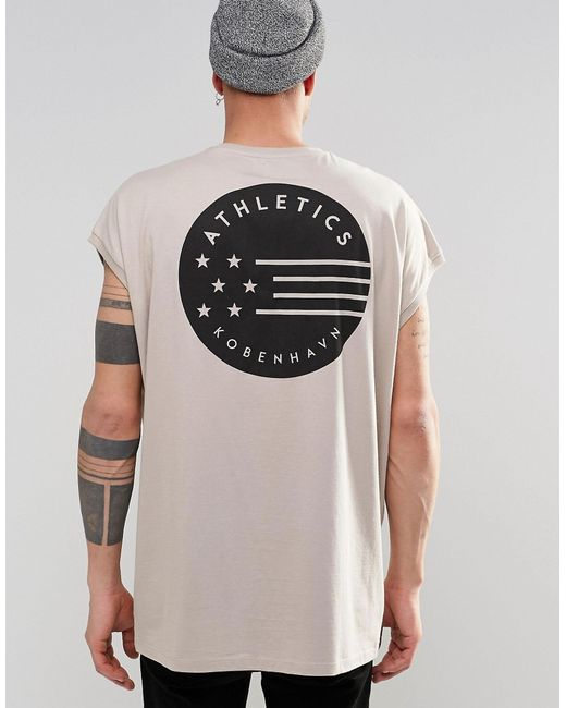 Asos Super Oversized T Shirt With Star Flag Back Print In
