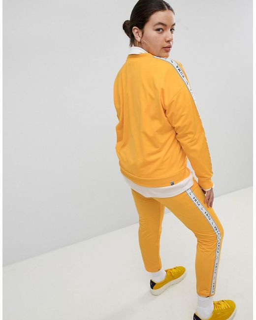 Many Kinds Of Brand New Unisex Cheap Online Exclusive To ASOS Plus T-Shirt With Taped Side Stripe In Yellow - Citrus Puma Buy Cheap Wholesale Price Discount Cheapest 5glWpFDSR