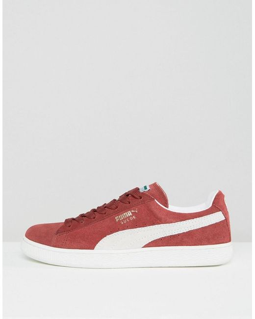 newest c0f60 93091 Men's Suede Classic + Sneakers In Red 35263475