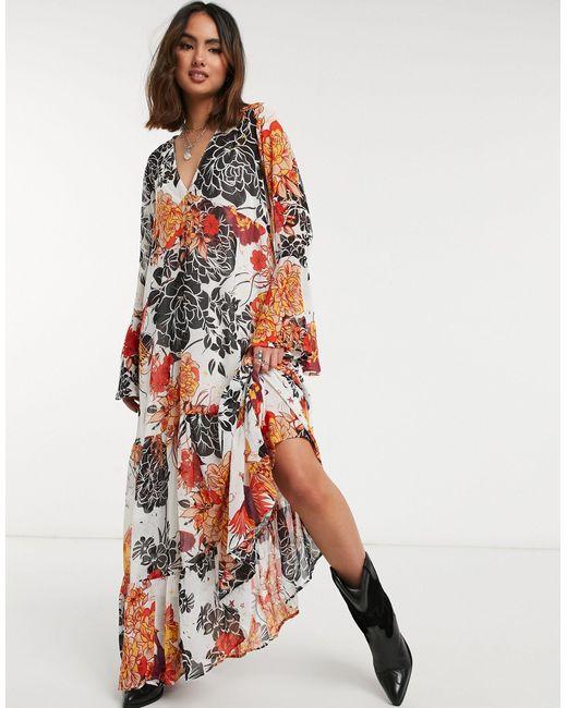 Платье Макси С Принтом -многоцветный Free People, цвет: Multicolor