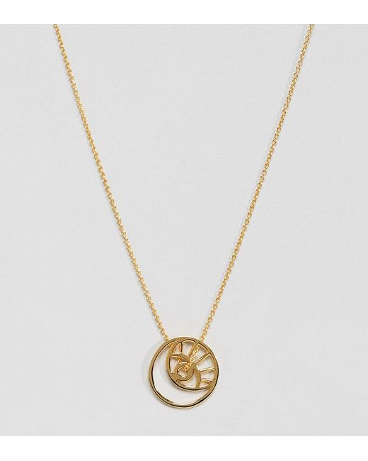 ASOS - Metallic Gold Plated Sterling Silver Cut Out Eye Motif Necklace - Lyst