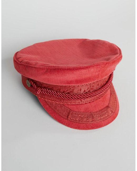 buying cheap hot sale online best choice Casquette gavroche brodée - Rouge femme de coloris orange