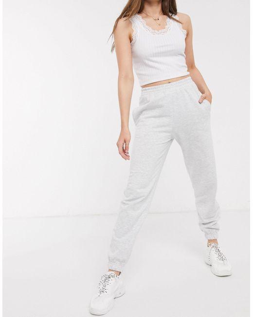 Светло-серые Джоггеры С Манжетами -серый New Look, цвет: Gray