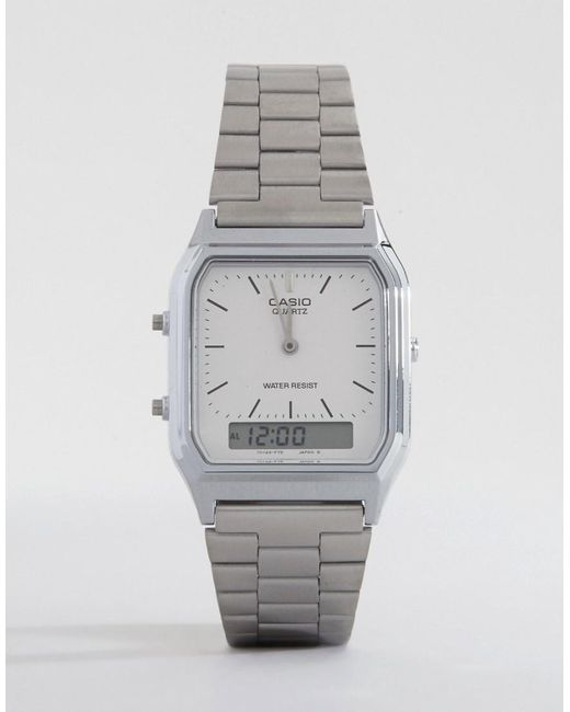 G-Shock | Metallic Aq-230a-7dmq Digital Bracelet Watch | Lyst