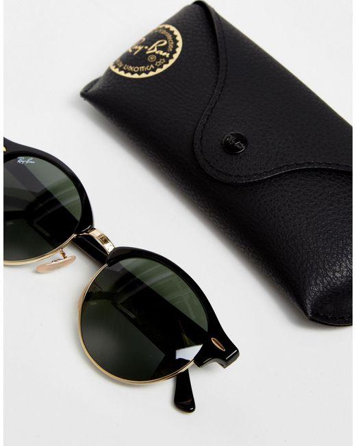 """Круглые Солнцезащитные Очки """"клабмастер"""" 0rb4246-черный Ray-Ban, цвет: Black"""