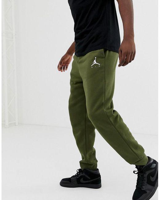 1aad22994aac Nike - Green Nike Jumpman Skinny Joggers In Khaki 940172-395 for Men - Lyst  ...